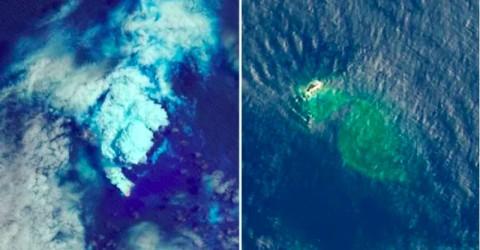 Letusan Gunung Api Bawah Laut Ciptakan Pulau Baru di Pasifik