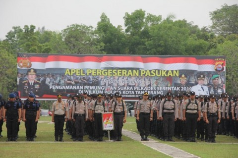 Polresta Tangerang Halau Perecok Pilkades