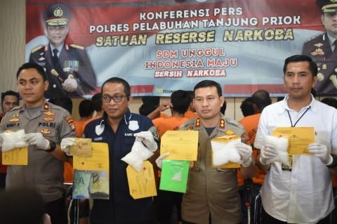 Polres Pelabuhan Tanjung Priok Tangkap 44 Pengedar Narkoba