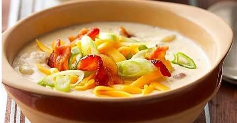 Resep Sup Kentang Panggang dengan Keju