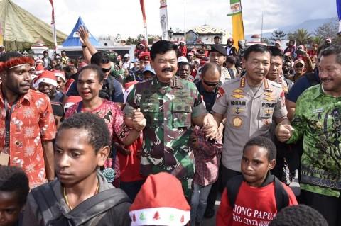 Panglima: TNI dan Polri Selalu Hadir di Tengah Masyarakat