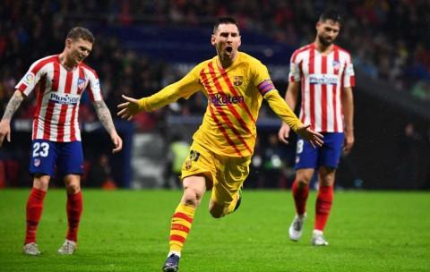 Gol Messi Bantu Barcelona Bungkam Atletico