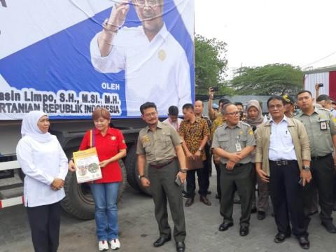 Mentan Lepas Ekspor Hasil Bumi di Pelabuhan Tanjung Perak