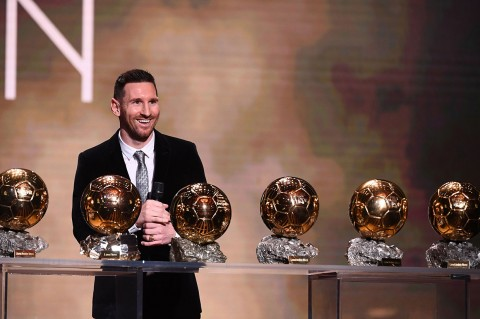 Messi Raih Ballon d'Or untuk Keenam Kalinya