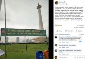 [Cek Fakta] TNI Bentangkan Spanduk Menyambut Acara Reuni 212