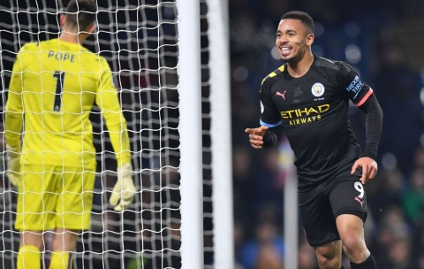 Gabriel Jesus Cetak Brace, City Permak Burnley