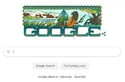 Google Doodle Rayakan Taman Nasional Lorentz