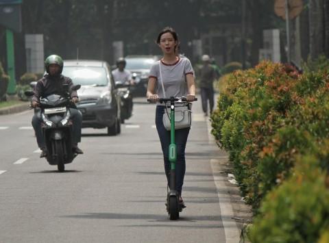 Otopet dan Skuter Listrik Diizinkan Melintas di Palembang