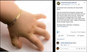 Pemakaian Emas Berbahaya pada Bayi? Ini Faktanya