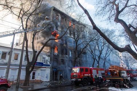 14 Orang Hilang dalam Kebakaran Kampus di Ukraina