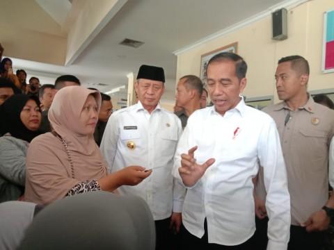 Jokowi Sidak Pelayanan BPJS Kesehatan di RSUD Cilegon