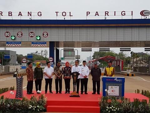 Jokowi Inaugurates Kunciran-Serpong Toll Road
