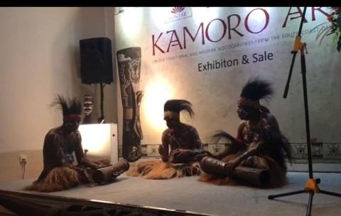 Papua's Kamoro Tribe Sculptures on Display in Jakarta