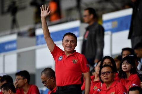Ketum PSSI Tegang saat Saksikan Langsung Timnas U-23 vs Myanmar