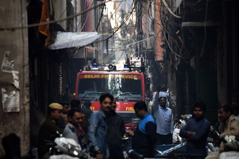 43 Orang Tewas Akibat Kebakaran Pabrik di India