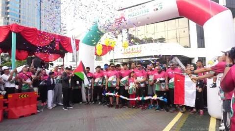 Masyarakat Ramaikan Run For Palestine di Jakarta
