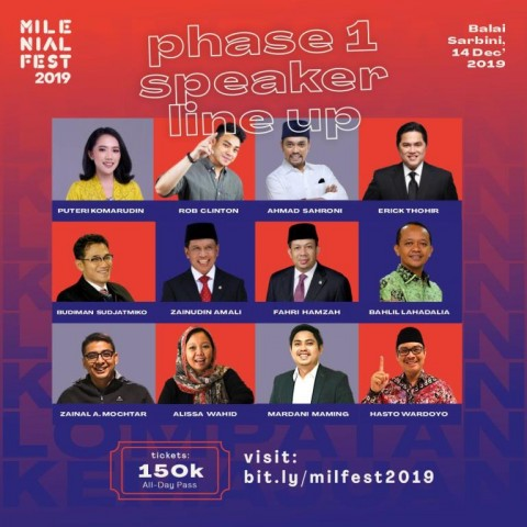 Menteri Muda Jokowi Ramaikan MilenialFest 2019