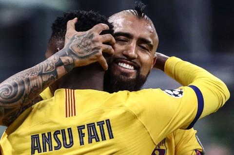 Barca Tekuk Inter, Fati Ukir Sejarah