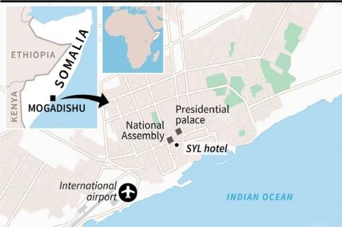 Empat Orang Tewas dalam Serangan di Hotel Somalia