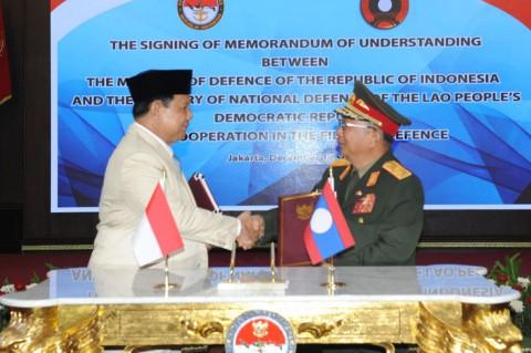 Prabowo Terima Kunjungan Menhan Laos