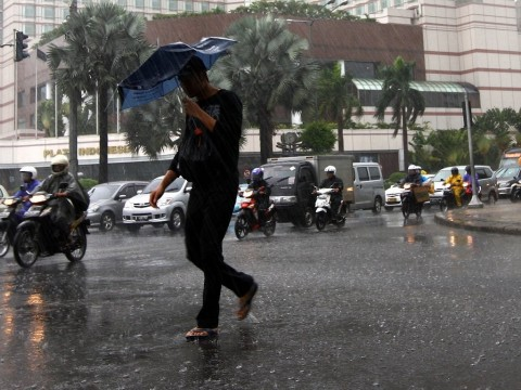 Jakarta Berawan Pagi Ini