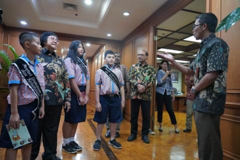 Tiga Siswa Berkesempatan Jadi Menteri LHK Sehari