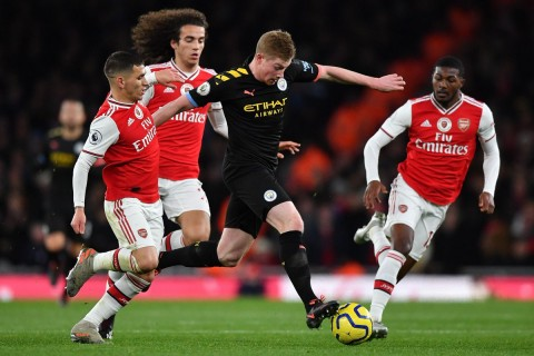 Manchester City Bungkam Arsenal di Emirates Stadium
