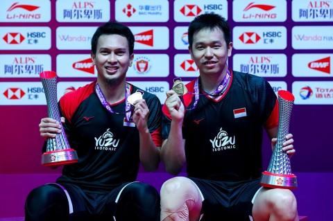 Ahsan/Hendra Cetak Rekor Langka Usai Juara BWF World Tour Finals