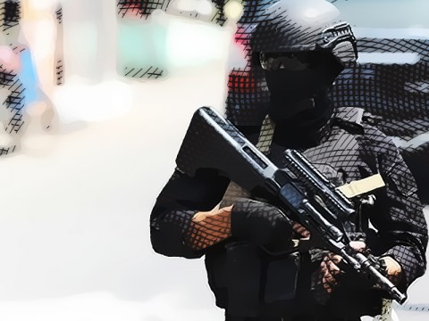 Gegana Ledakkan Benda Mencurigakan Dekat Masjid Istiqlal