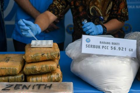 BNN Musnahkan 1,6 Juta Pil PCC