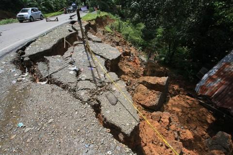 Bencana Tanah Bergerak di Limapuluh Kota Semakin Meluas
