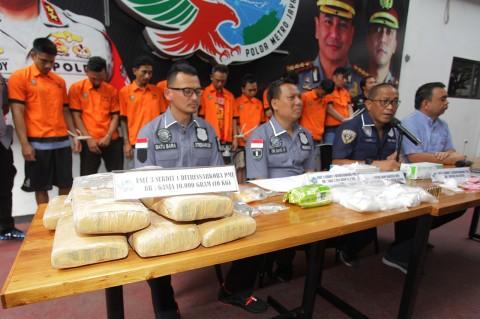 Polda Metro Jaya Ringkus 10 Pengedar Narkoba Jaringan Lapas