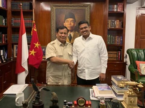 Bobby Nasution Sowan ke Prabowo