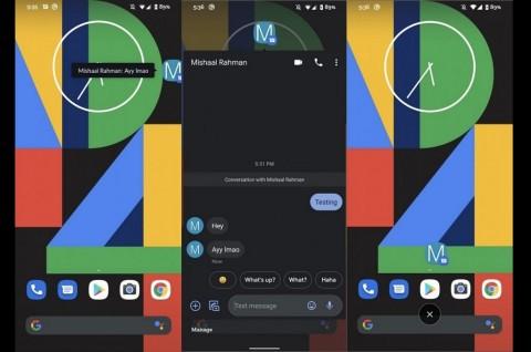 Google Messages Uji Gelembung Percakapan di Android 10