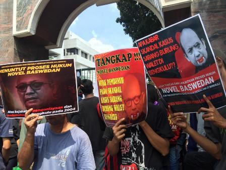 Mahasiswa Bengkulu Ungkit Kasus Novel Baswedan