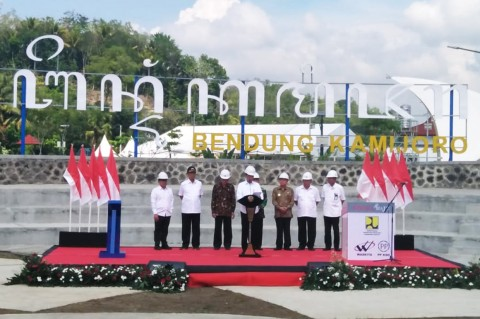 Jokowi Resmikan Bendung Kamijoro Kulon Progo