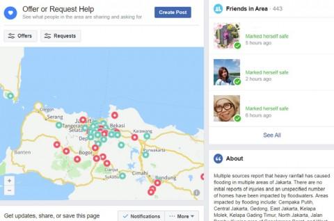 Periksa Kondisi Keluarga saat Banjir di Facebook Safety Check