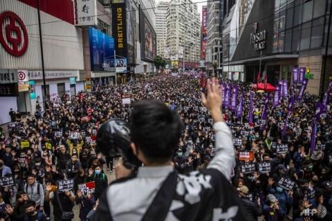 Protes Hong Kong Berujung Kekerasan, 400 Pedemo Ditangkap