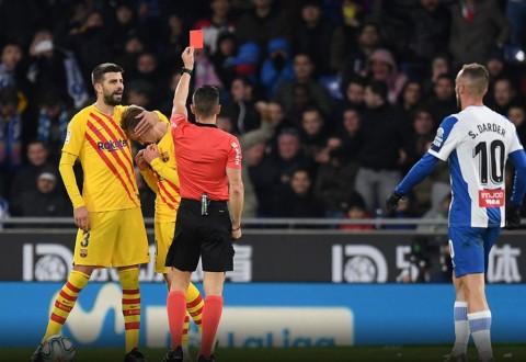 Kartu Merah Frenkie De Jong Warnai Hasil Imbang Barca Kontra Espanyol