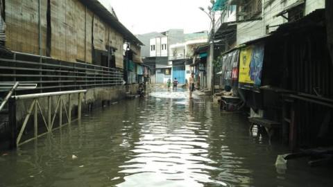 Wilayah Cekungan Membuat Banjir di Pejagalan Lama Surut