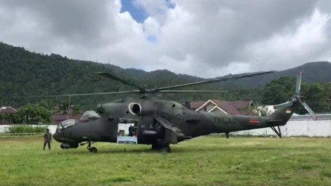 Helikopter Kepala BNPB Gagal Terbang di Sangihe