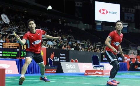 Ahsan/Hendra Susul Fajar/Rian ke Babak Kedua Malaysia Masters 2020