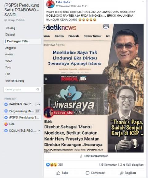Erick Thohir Diam soal Kasus Jiwasraya karena Mantan Dirkeu Menantu Moeldoko? Ini Faktanya