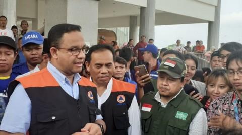 Anies Sebut Jakarta Beruntung Tidak Ada Longsor