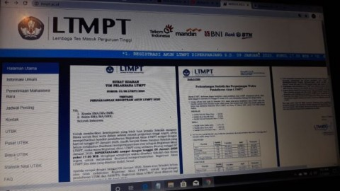 Simpan Data Akun LTMPT Ditunggu Hingga Siang ini