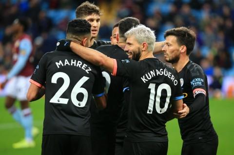 Aguero <i>Comeback</i>, City Pecundangi Aston Villa
