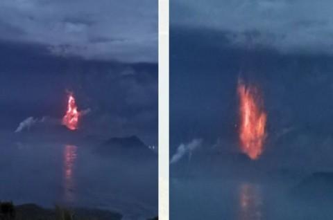 Gunung Taal Filipina Mulai Semburkan Lava