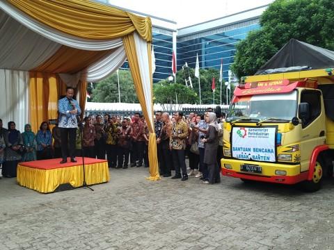 Kemenperin-Pelaku Industri Kirim Logistik ke Lebak Banten