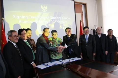 RI-Tiongkok Sepakati Kontrak Alumina Senilai Rp9,4 Triliun