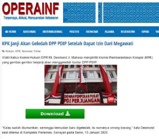 [Cek Fakta] KPK Janji Akan Geledah DPP PDIP Setelah Dapat Izin Dari Megawati? Ini Faktanya